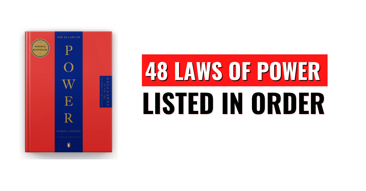 48 Laws of Power Listed in Order