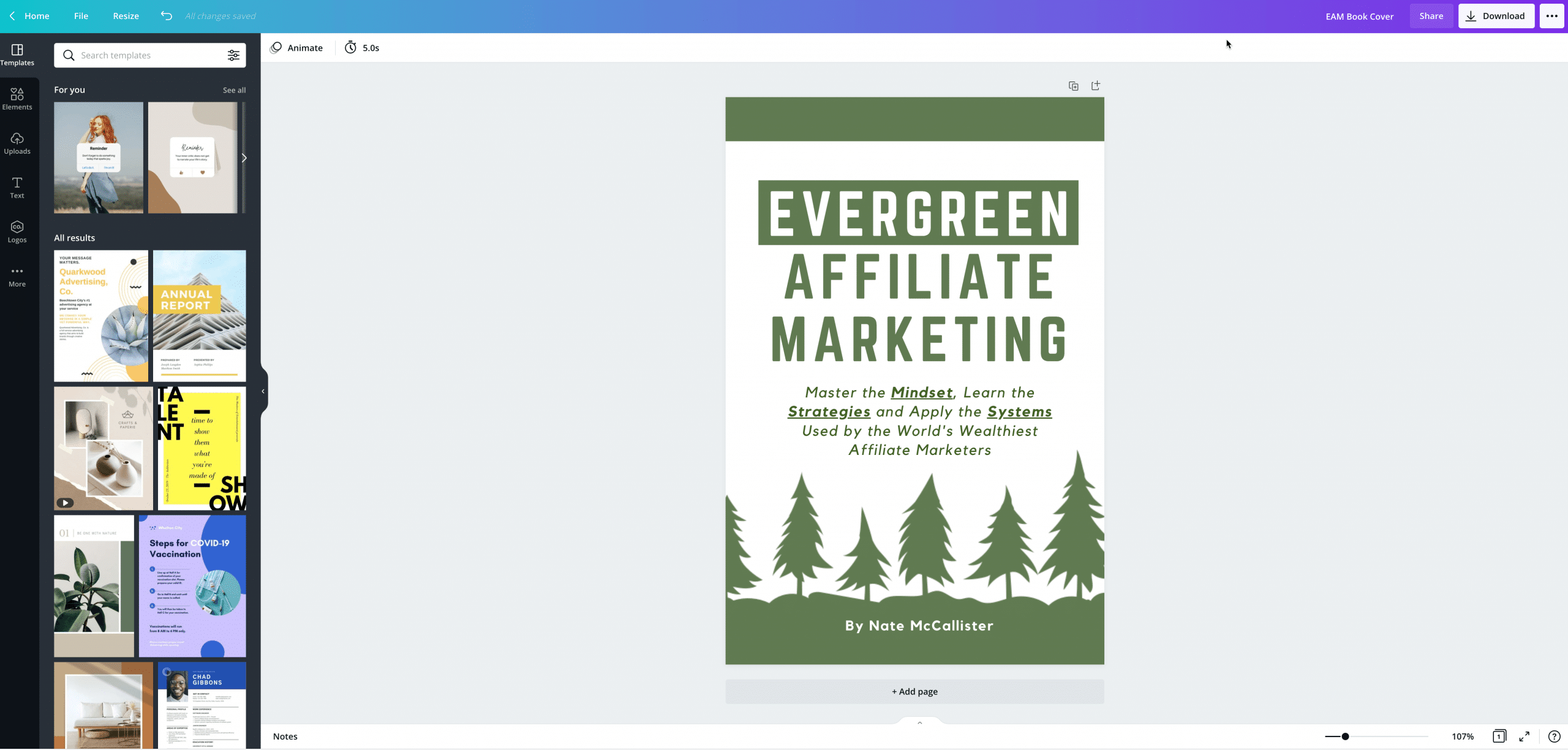Canva for Book Covers