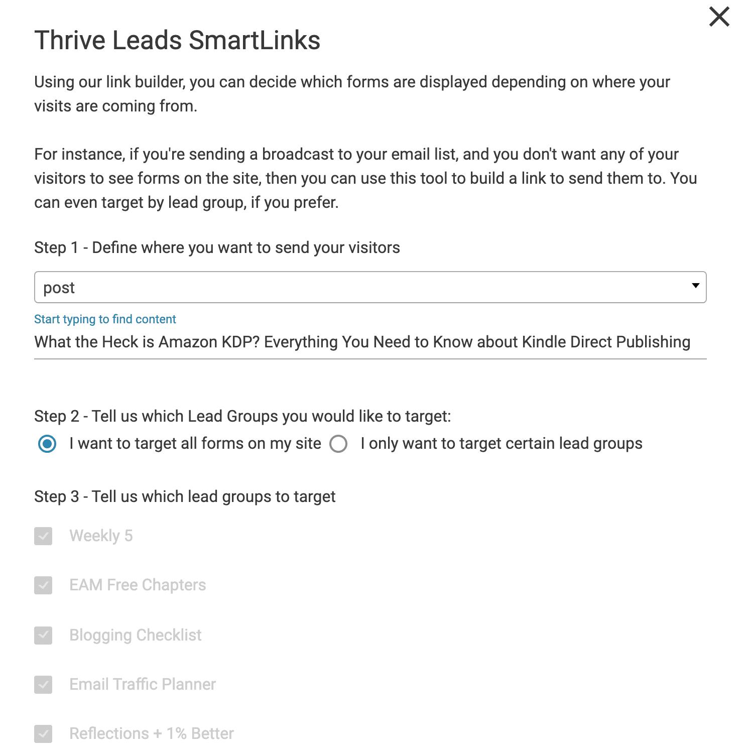 Thrive Smart Links