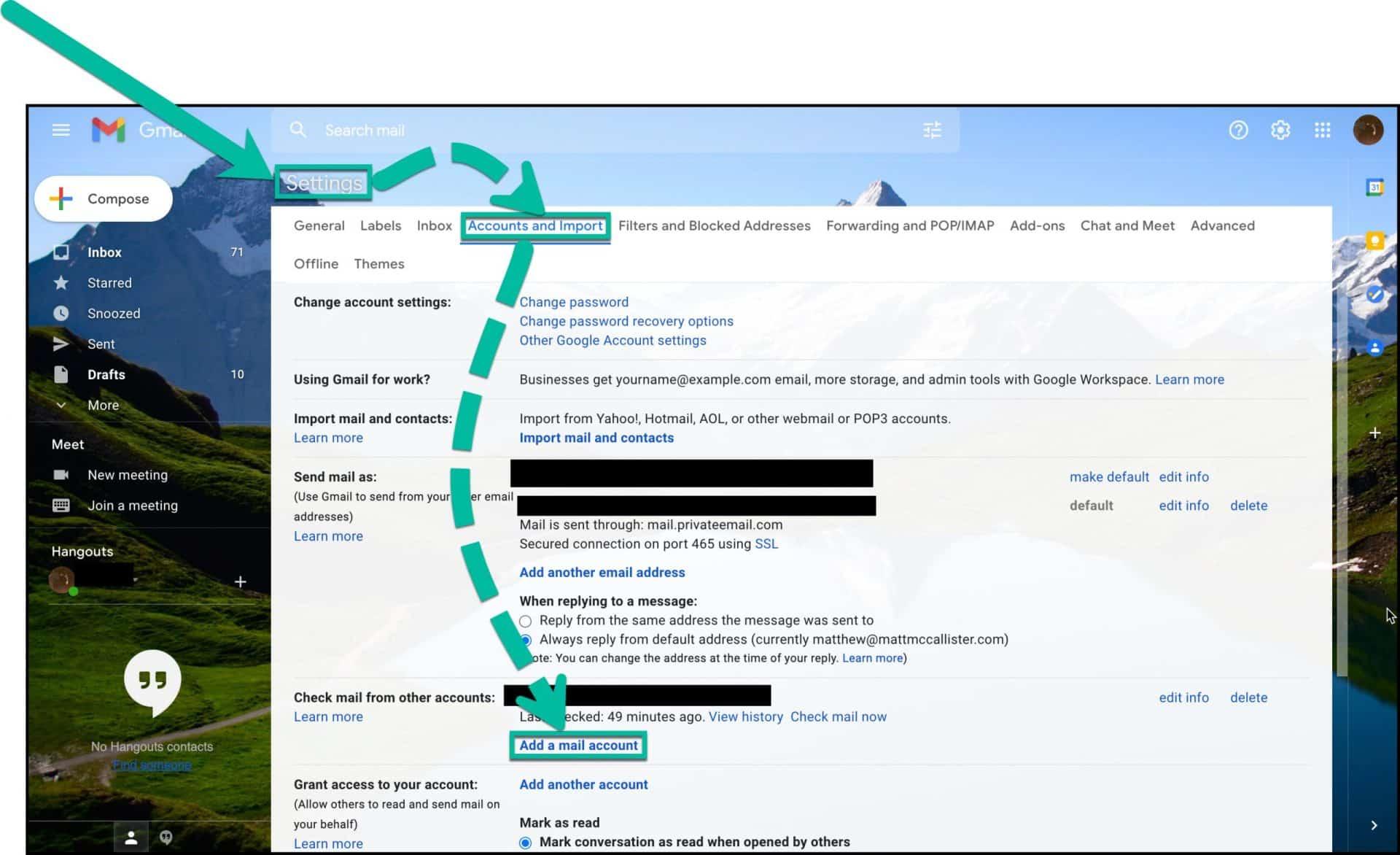 Email Setup Step 1